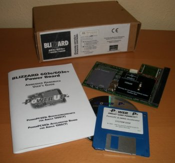 Blizzard PPC with manual, disk and box