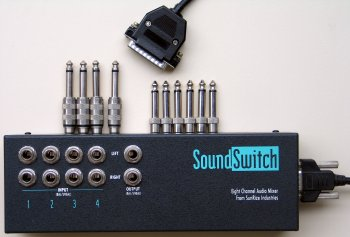 Soundswitch with cable and jacks