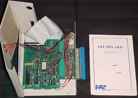 Image of inside the A500 version of the Trumpcard