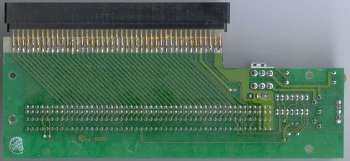 Image of the rear of the Trumpcard 500 edge connector